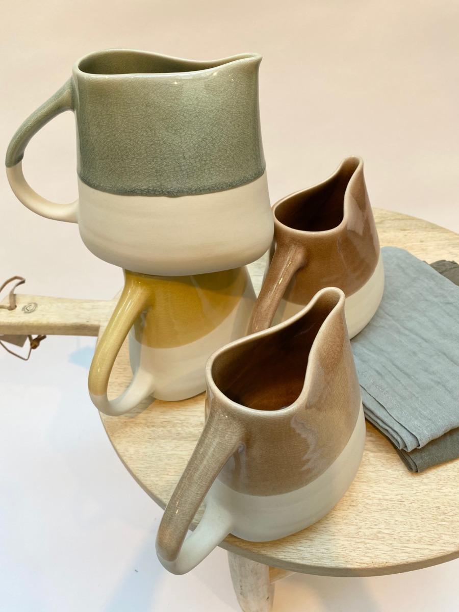 Pichet en grès, Jars céramistes, Dimensions 611cm, H 14cm, Contenance 75cl, service Maguelone