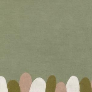 Tapis « jungala »en laine feutrée - Muskhane - Dimensions 120/160cm - Coloris vert tendre