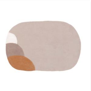 Tapis « lupka » en laine feutrée - Muskhane - 80/140cm - Coloris sable