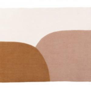 Tapis « sikara » en laine feutrée - Muskhane - Dimensions 160/200m - Coloris quartz/caramel