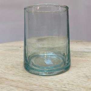 Verre marocain en verre recyclé - Grand modèle 8,5cm de hauteur et 6,5 cm de diamètre en haut.